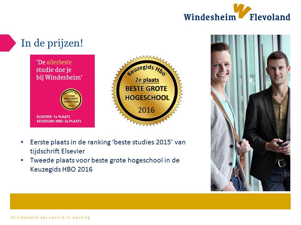 In de prijzen! Eerste plaats in de ranking 'beste studies 2015' van tijdschrift Elsevier.