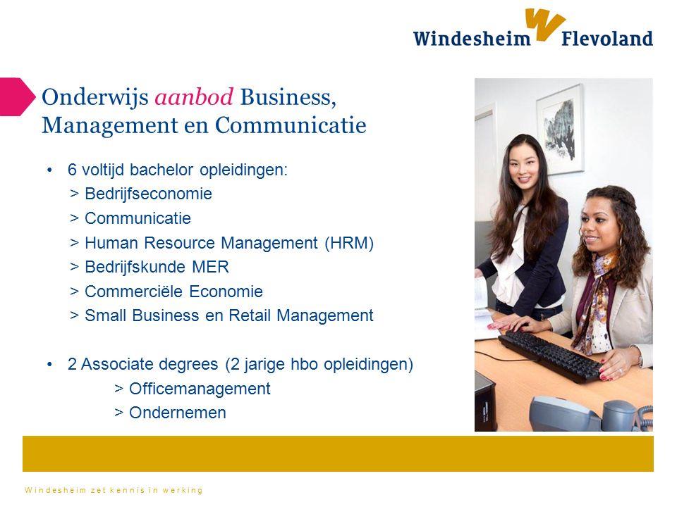 Onderwijs aanbod Business, Management en Communicatie