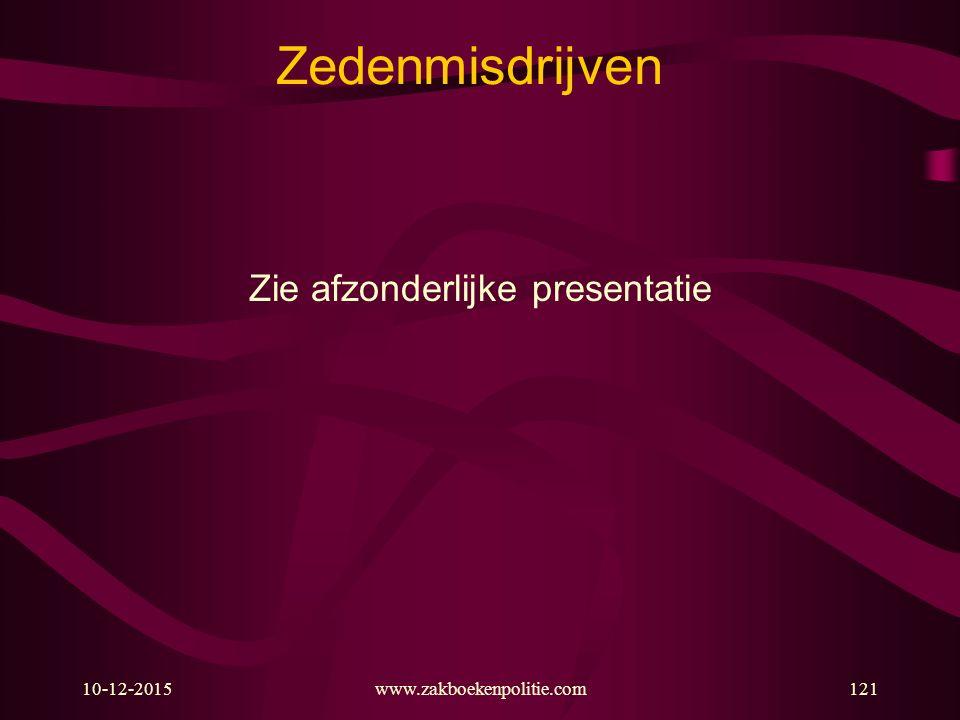 Zie afzonderlijke presentatie