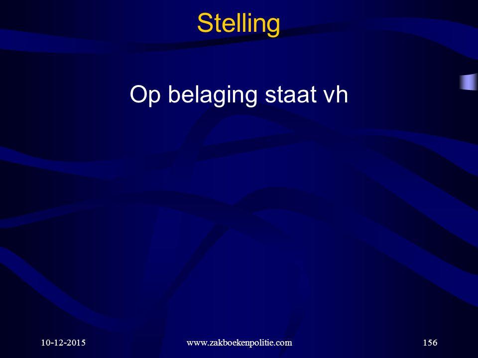 Stelling Op belaging staat vh 25-4-2017 www.zakboekenpolitie.com