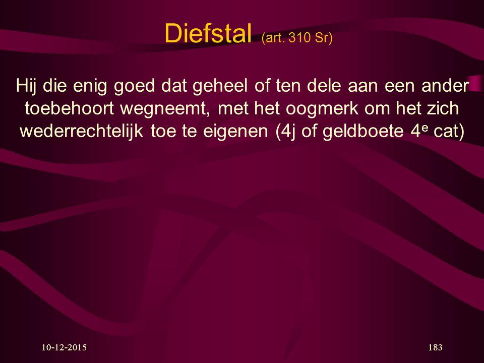 Diefstal (art. 310 Sr)