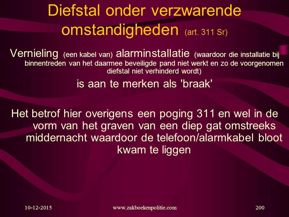 Diefstal onder verzwarende omstandigheden (art. 311 Sr)