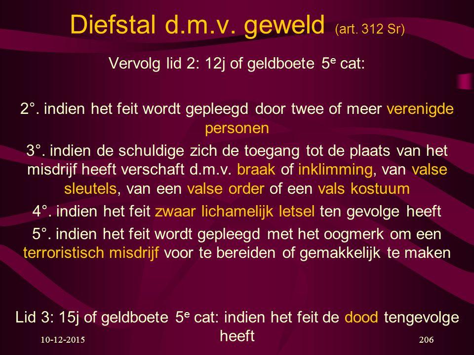 Diefstal d.m.v. geweld (art. 312 Sr)