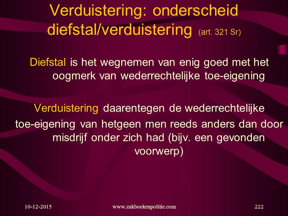 Verduistering: onderscheid diefstal/verduistering (art. 321 Sr)