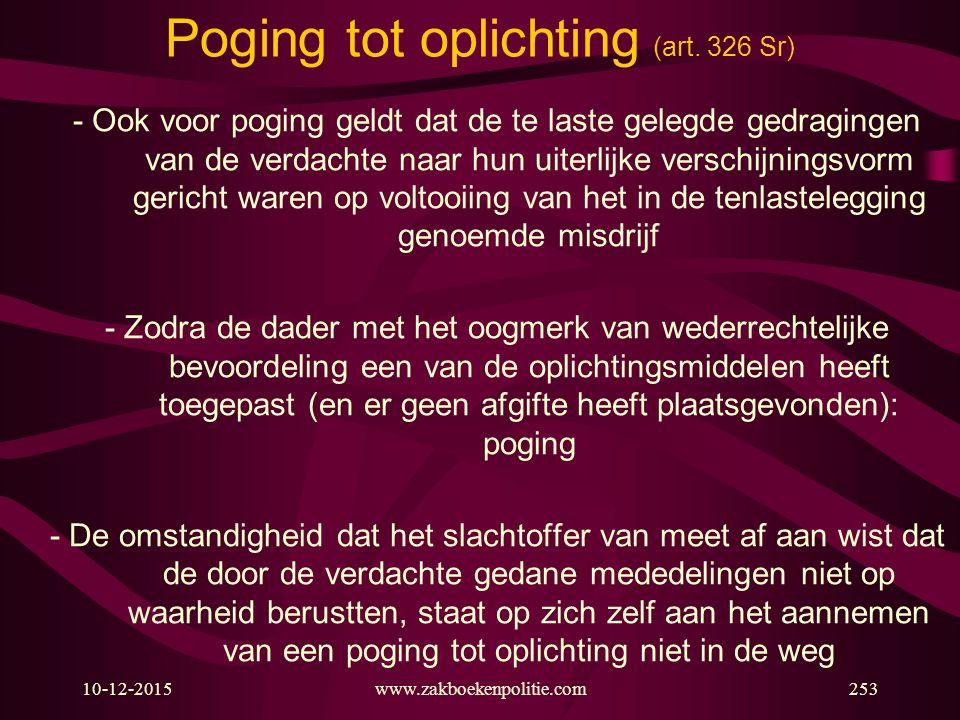 Poging tot oplichting (art. 326 Sr)