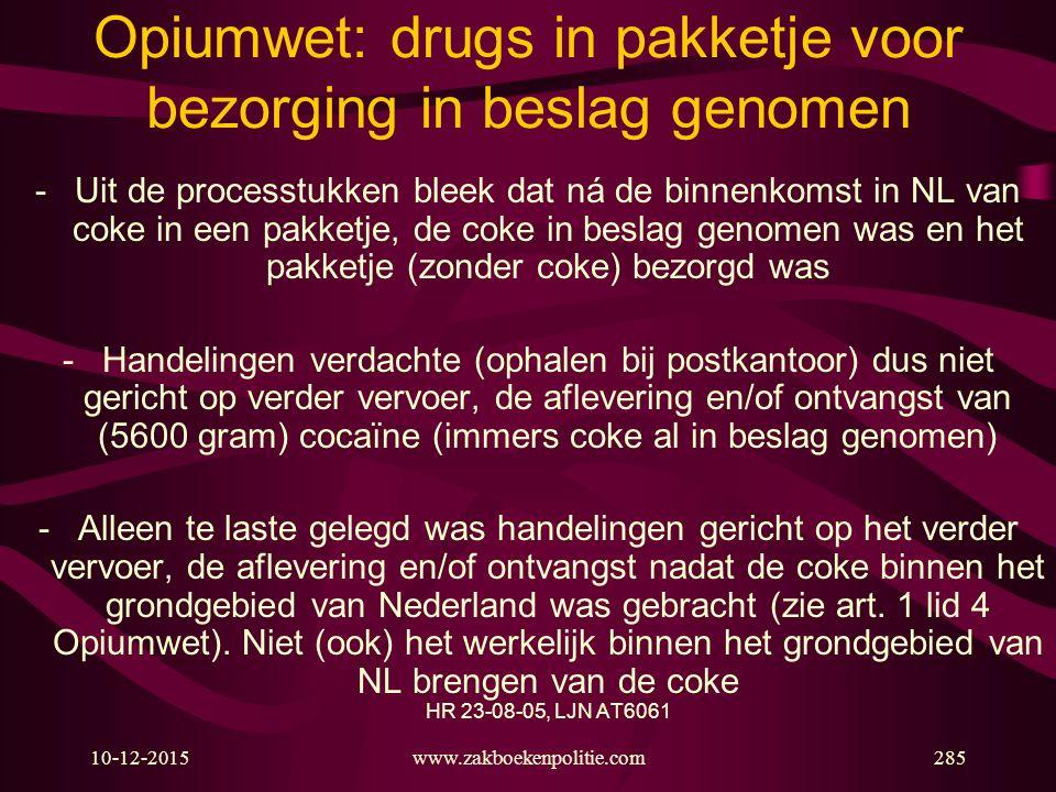 Opiumwet: drugs in pakketje voor bezorging in beslag genomen