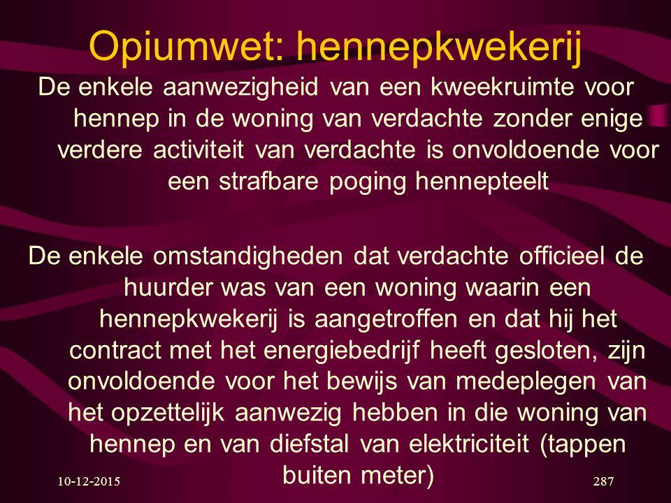 Opiumwet: hennepkwekerij