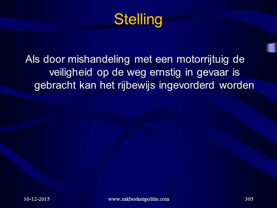 WWW.ZAKBOEKENPOLITIE.COM Stelling.