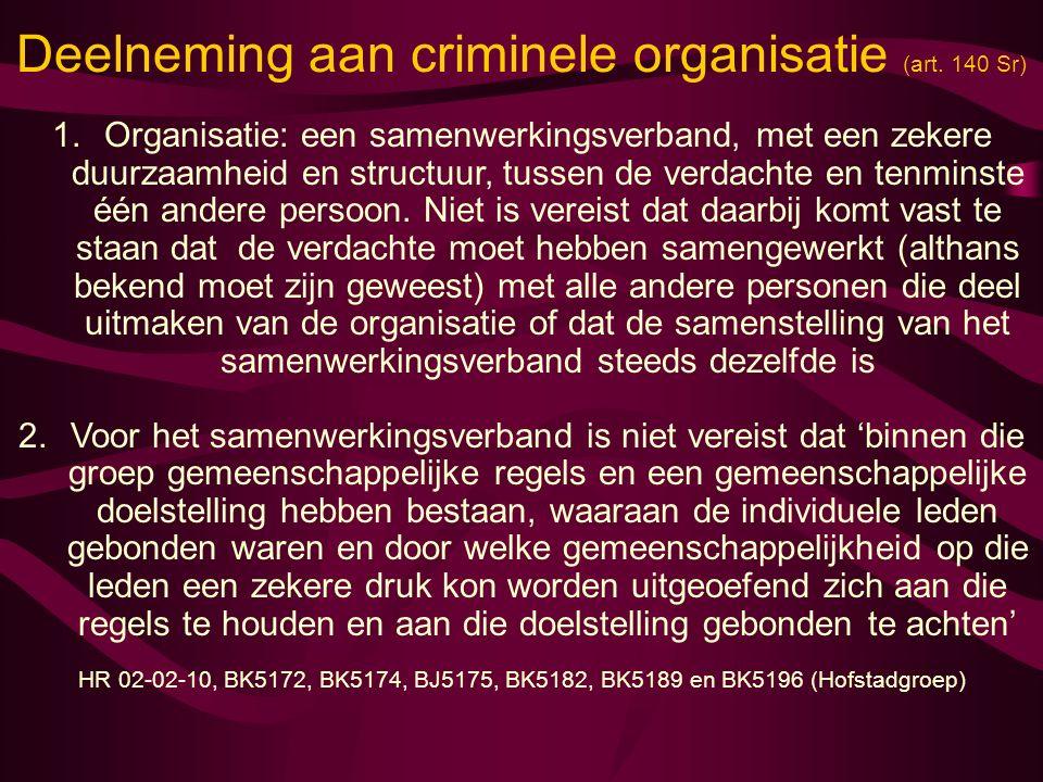 strafrecht criminele organisatie
