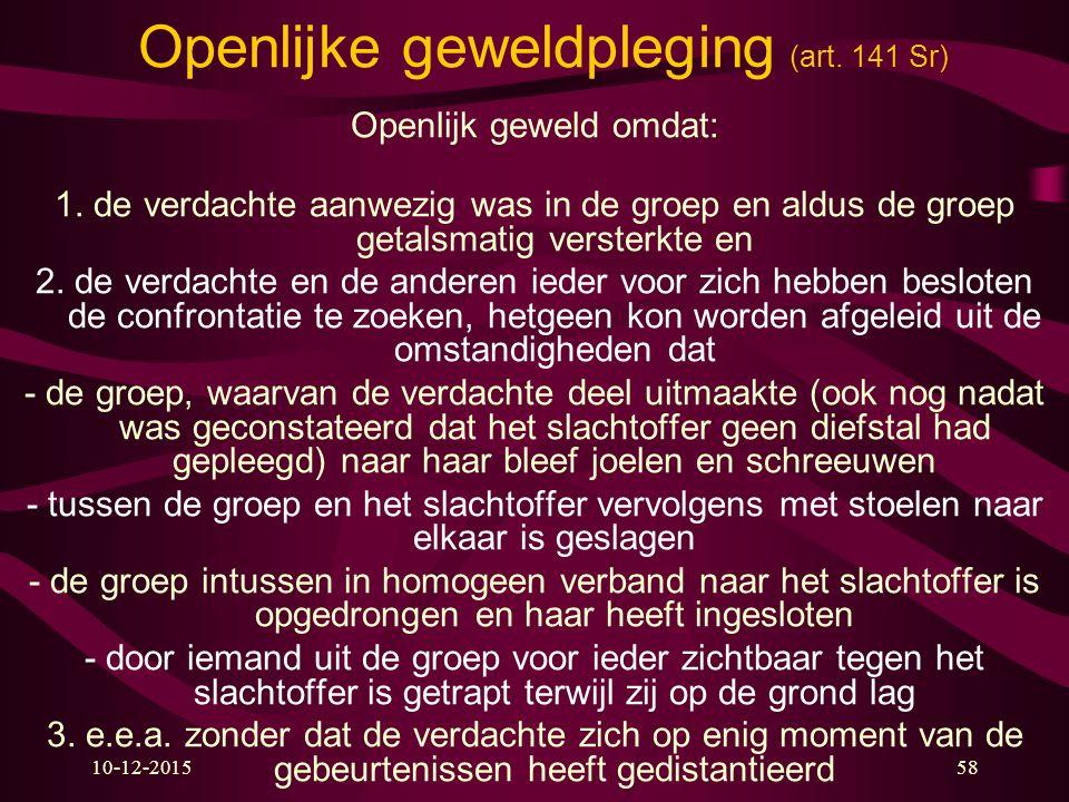 Openlijke geweldpleging (art. 141 Sr)