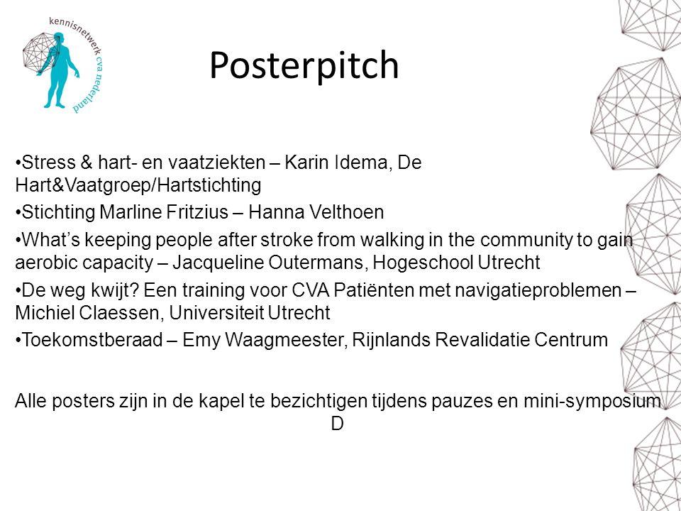Posterpitch Stress & hart- en vaatziekten – Karin Idema, De Hart&Vaatgroep/Hartstichting. Stichting Marline Fritzius – Hanna Velthoen.