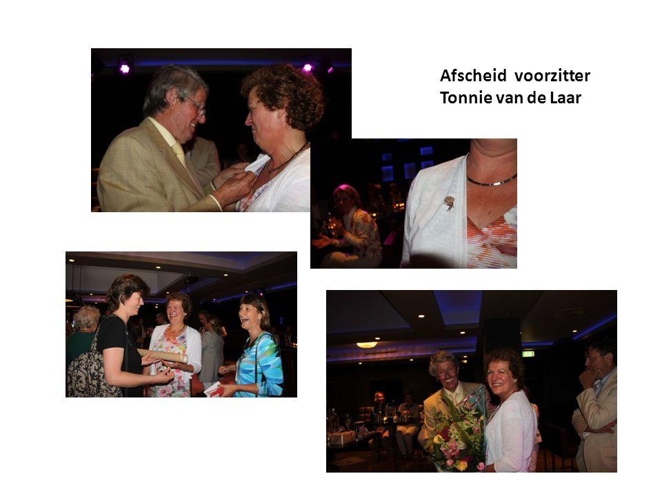 Afscheid voorzitter Tonnie van de Laar