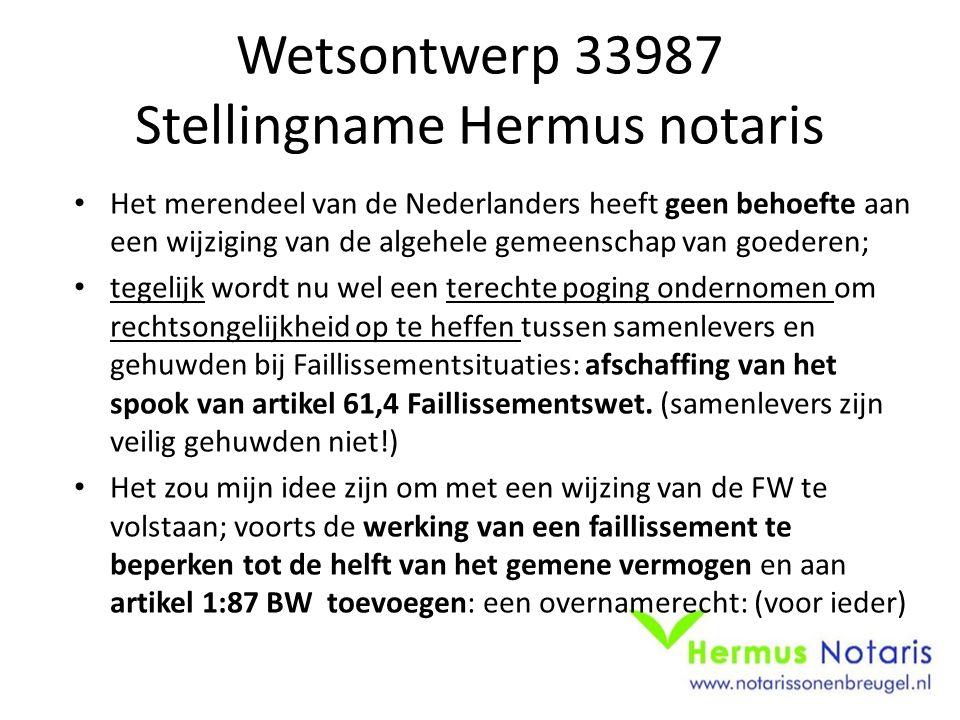 Wetsontwerp 33987 Stellingname Hermus notaris