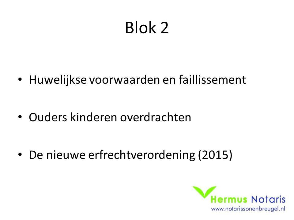 Blok 2 Huwelijkse voorwaarden en faillissement