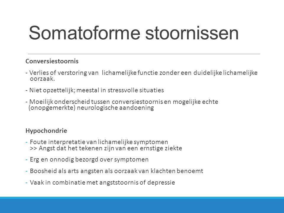 Somatoforme stoornissen