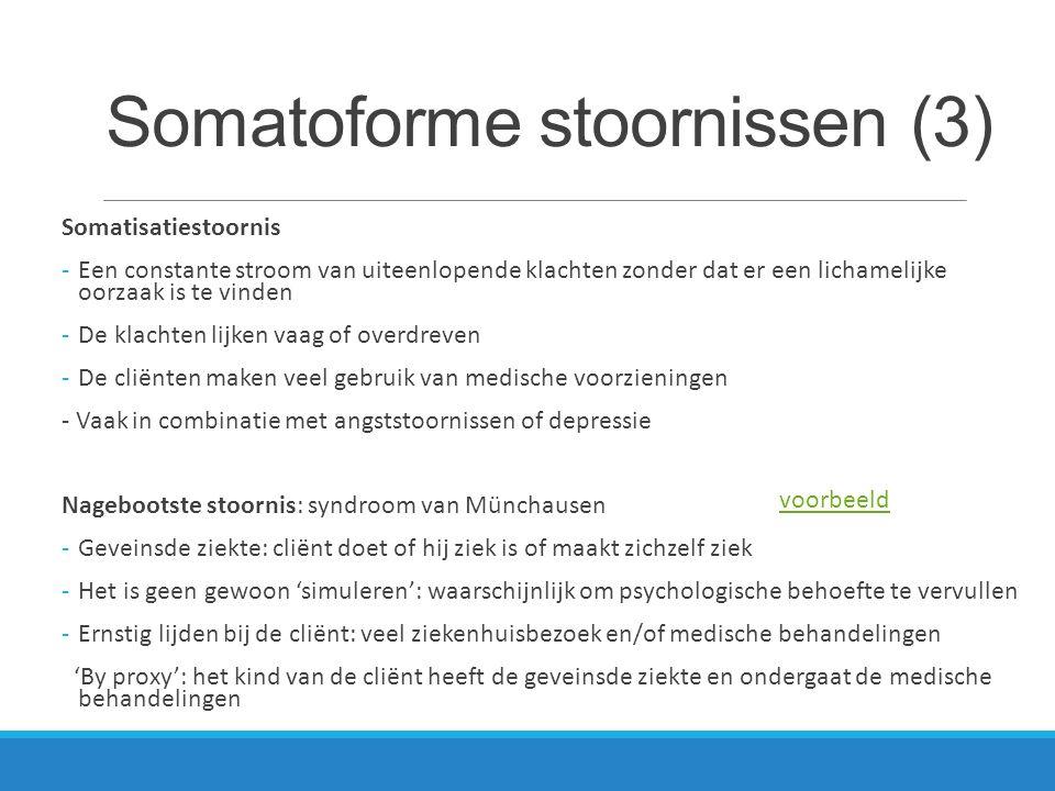 Somatoforme stoornissen (3)