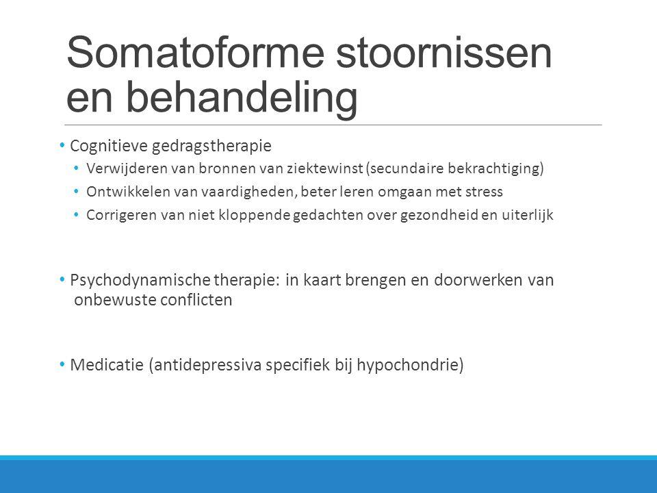 Somatoforme stoornissen en behandeling