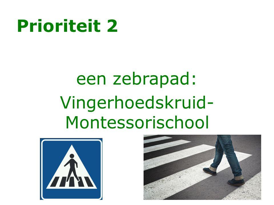 een zebrapad: Vingerhoedskruid- Montessorischool
