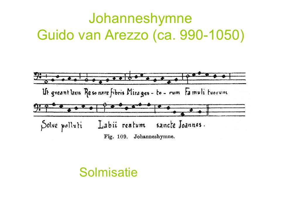 Johanneshymne Guido van Arezzo (ca. 990-1050)