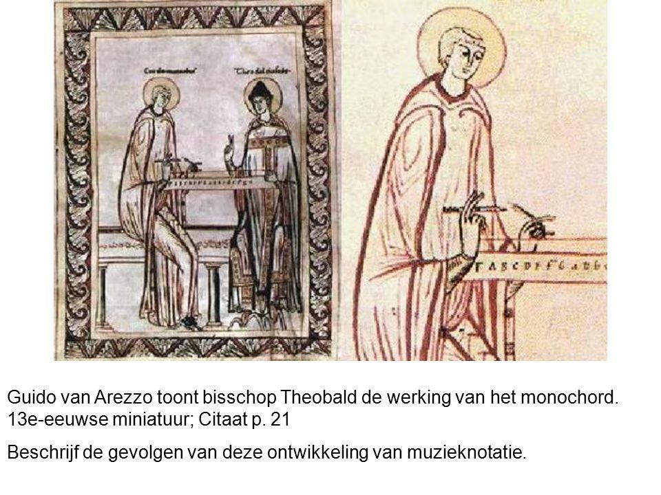 Guido van Arezzo toont bisschop Theobald de werking van het monochord