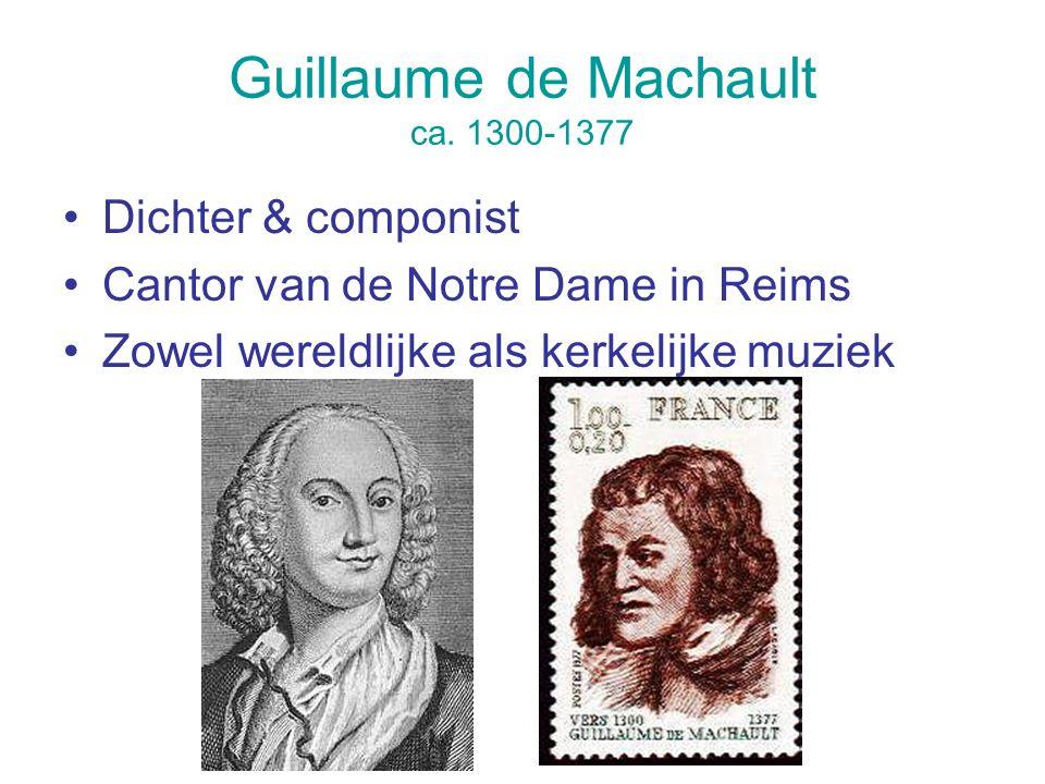 Guillaume de Machault ca. 1300-1377