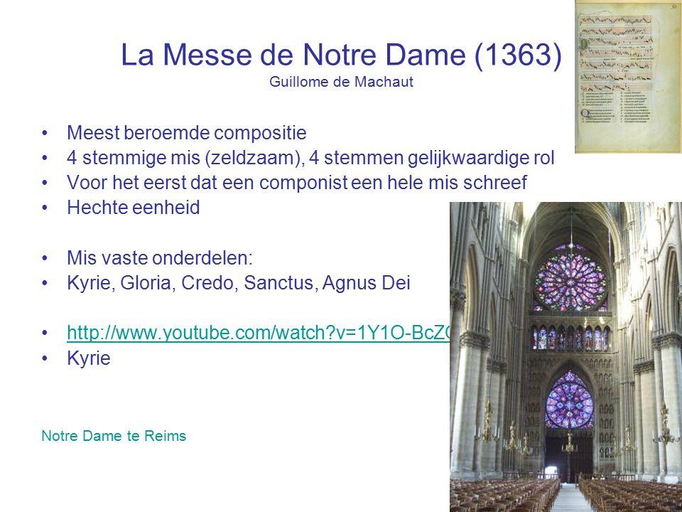 La Messe de Notre Dame (1363) Guillome de Machaut