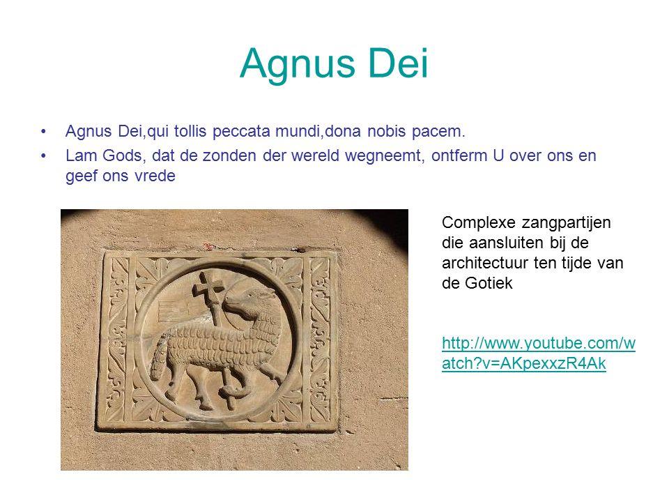 Agnus Dei Agnus Dei,qui tollis peccata mundi,dona nobis pacem.