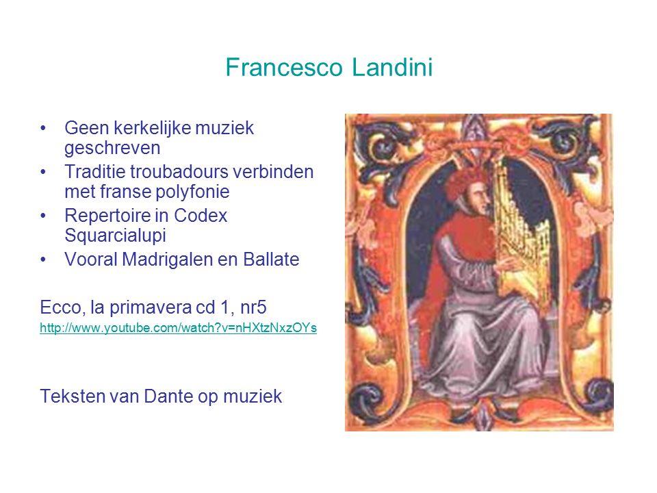 Francesco Landini Geen kerkelijke muziek geschreven