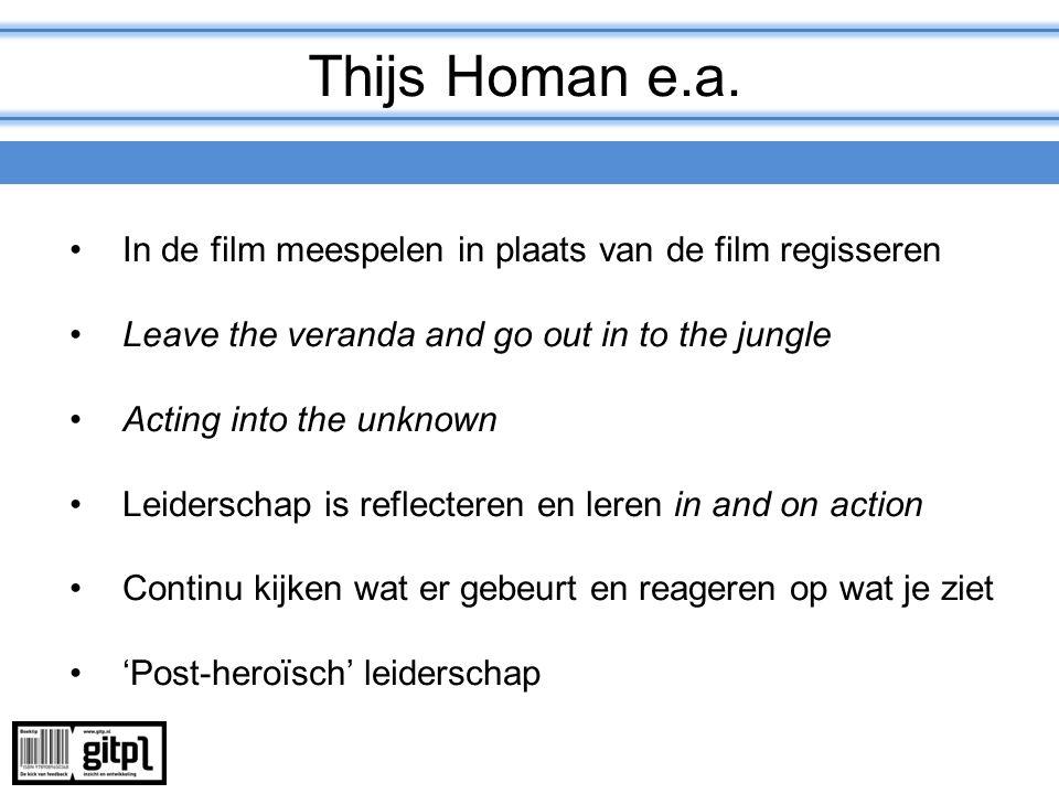Thijs Homan e.a. In de film meespelen in plaats van de film regisseren