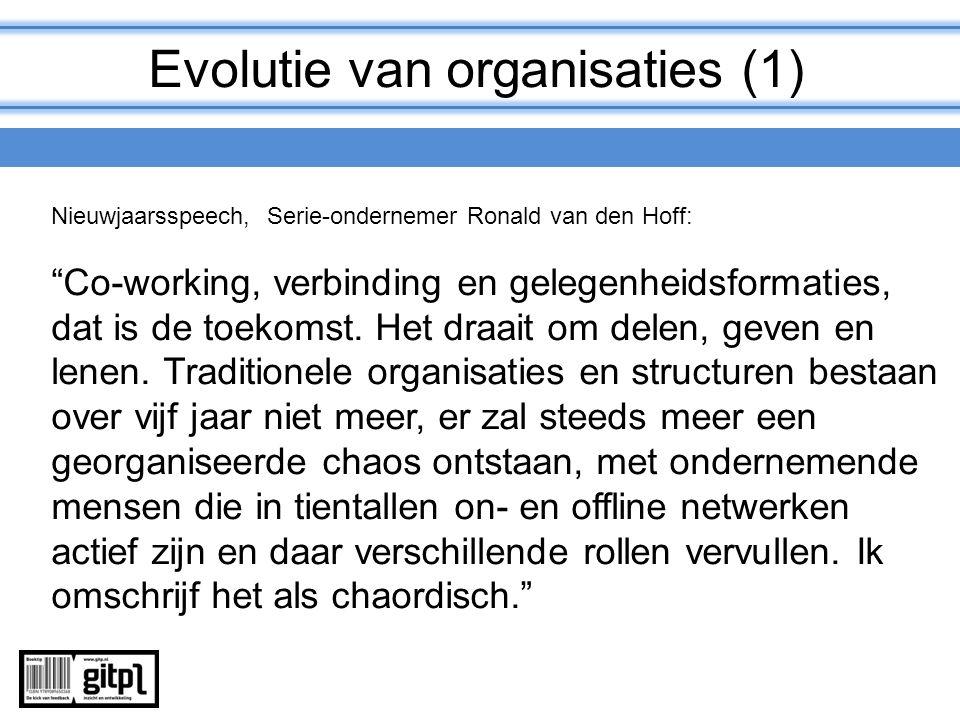 Evolutie van organisaties (1)