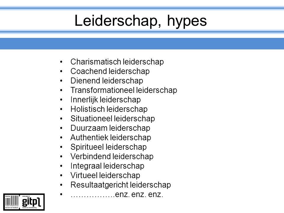 Leiderschap, hypes Charismatisch leiderschap Coachend leiderschap