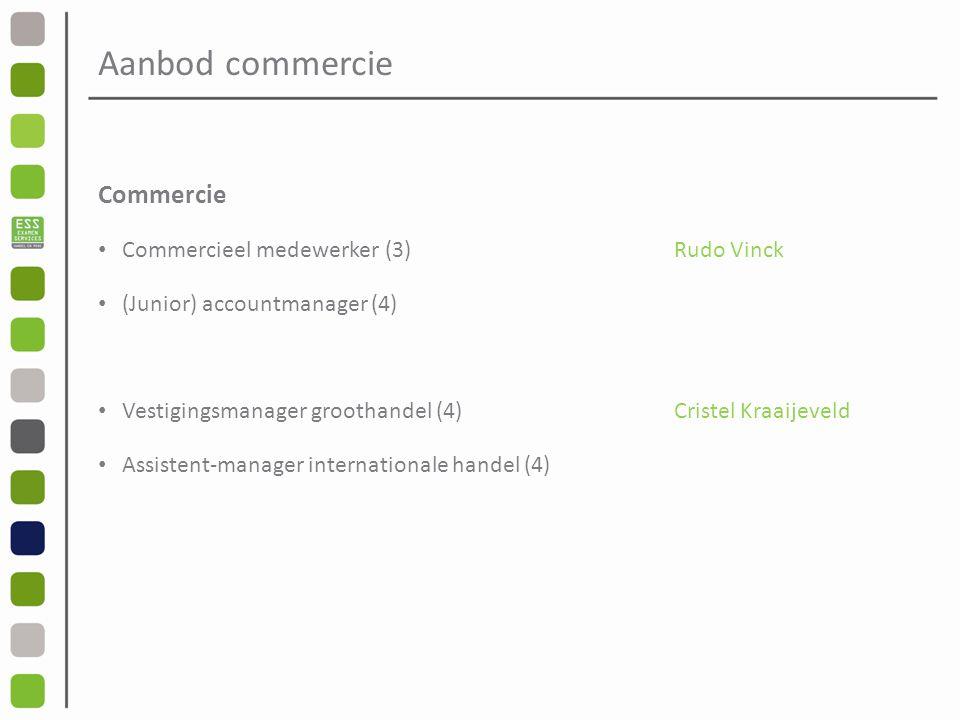 Aanbod commercie Commercie Commercieel medewerker (3) Rudo Vinck