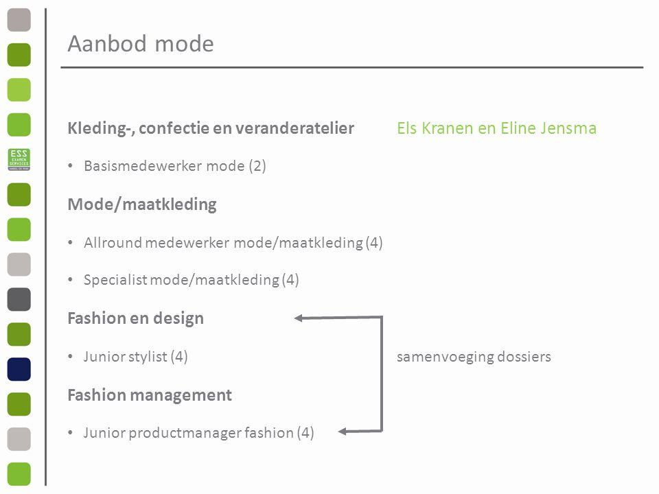 Aanbod mode Kleding-, confectie en veranderatelier Els Kranen en Eline Jensma. Basismedewerker mode (2)