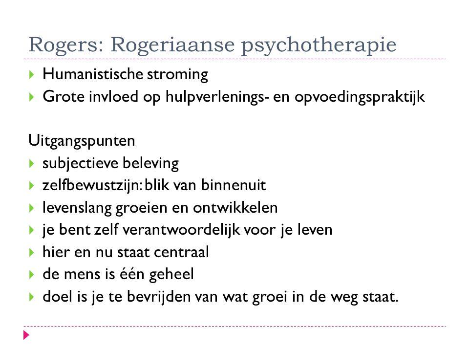 Rogers: Rogeriaanse psychotherapie