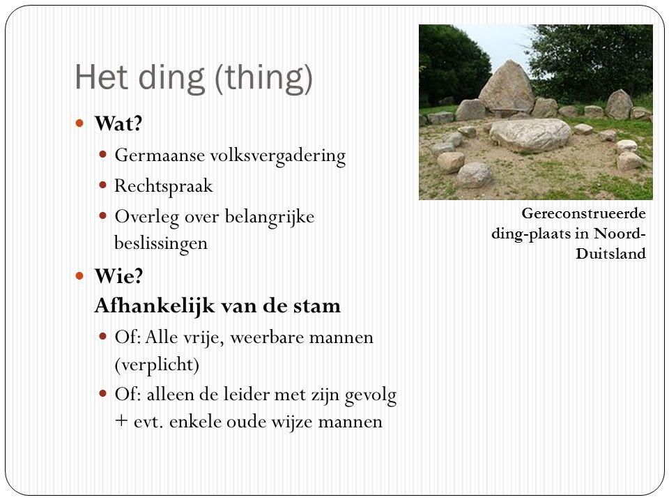 Het ding (thing) Wat Wie Afhankelijk van de stam