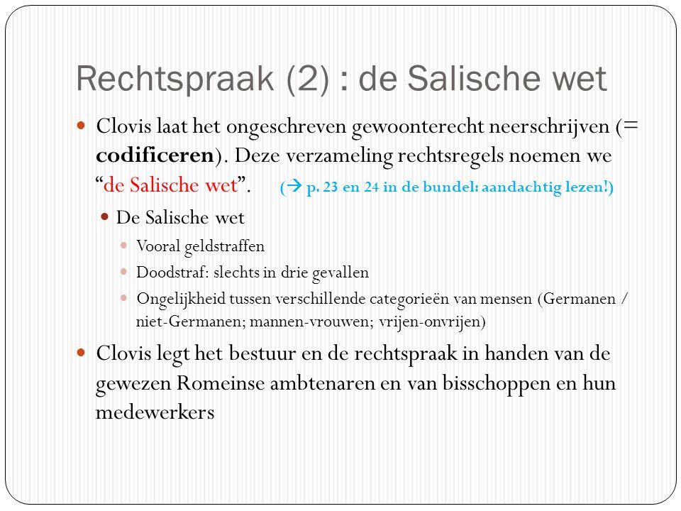 Rechtspraak (2) : de Salische wet