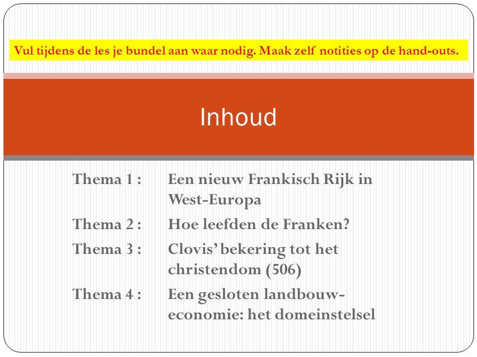 Inhoud Thema 1 : Een nieuw Frankisch Rijk in West-Europa