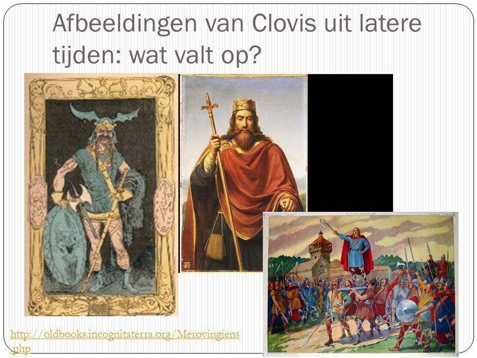 Afbeeldingen van Clovis uit latere tijden: wat valt op