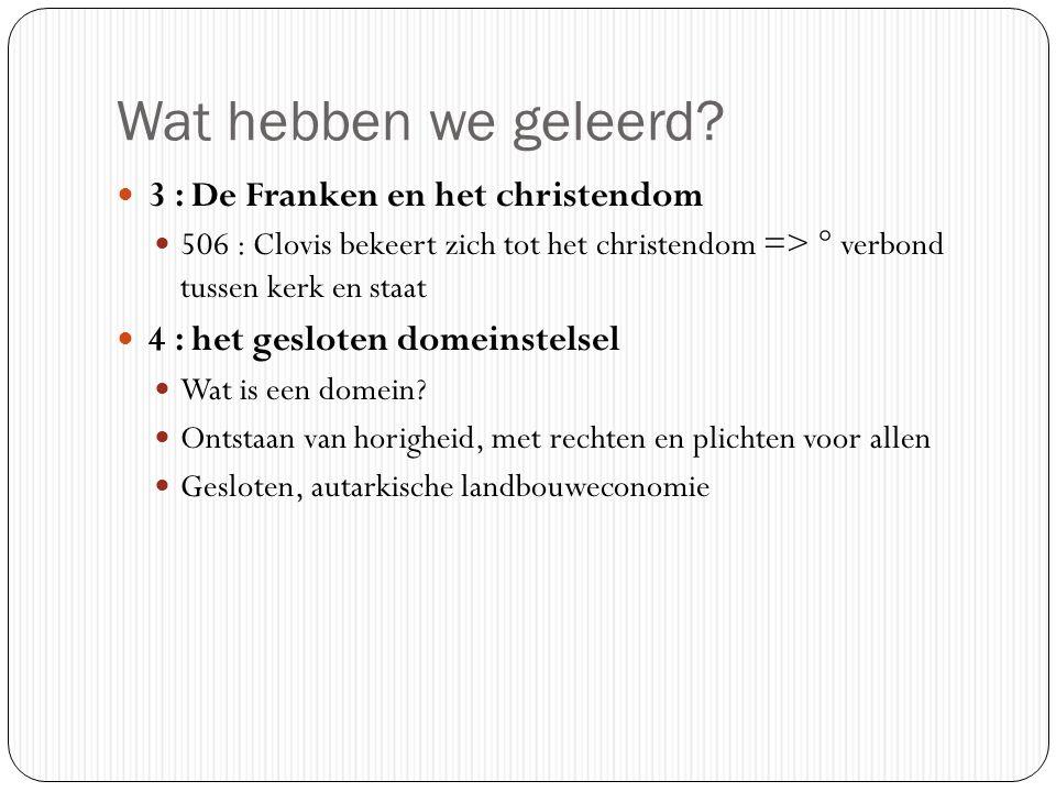Wat hebben we geleerd 3 : De Franken en het christendom