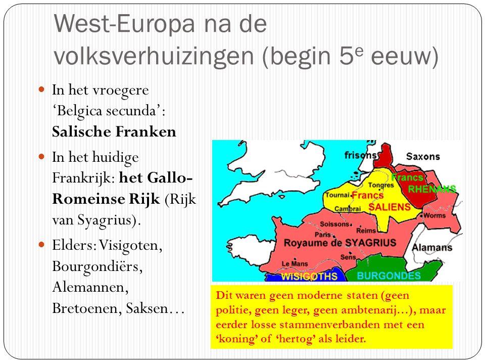 West-Europa na de volksverhuizingen (begin 5e eeuw)