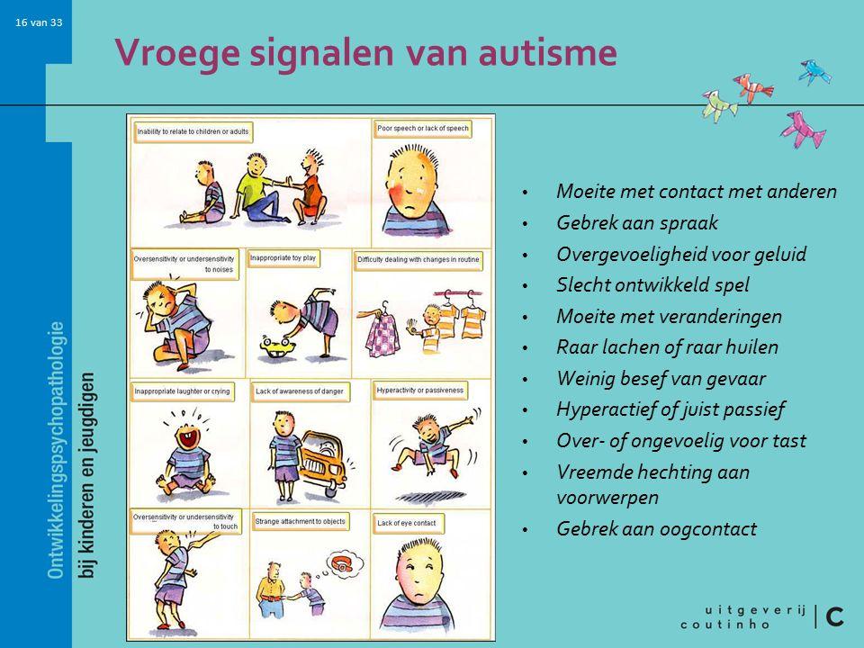 Vroege signalen van autisme