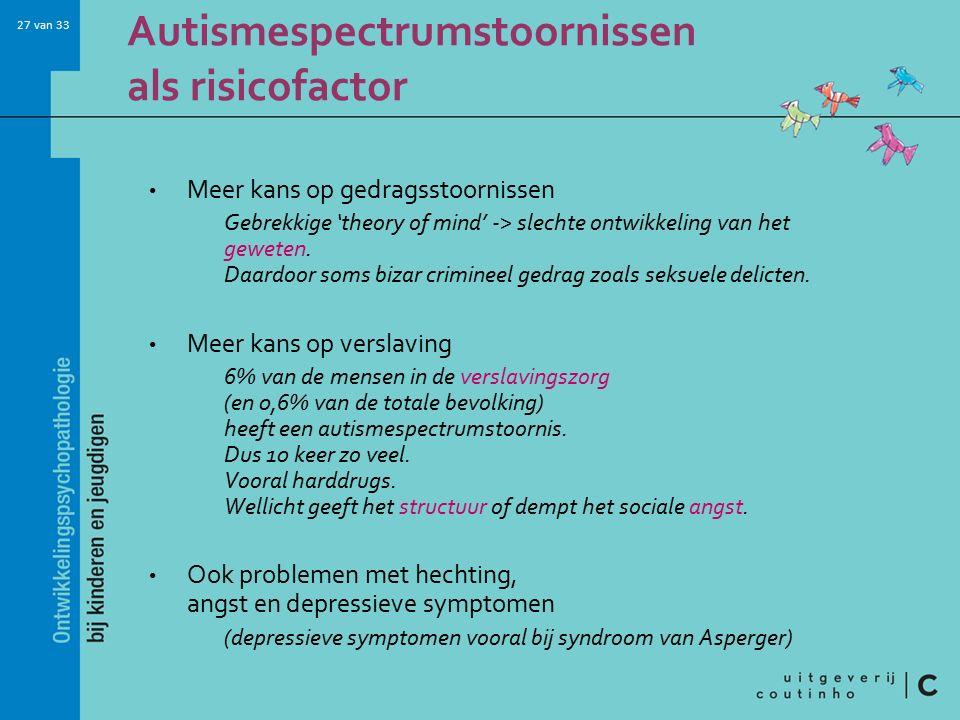 Autismespectrumstoornissen als risicofactor