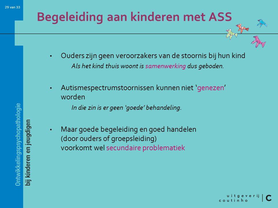 Begeleiding aan kinderen met ASS