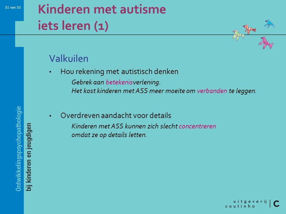 Kinderen met autisme iets leren (1)