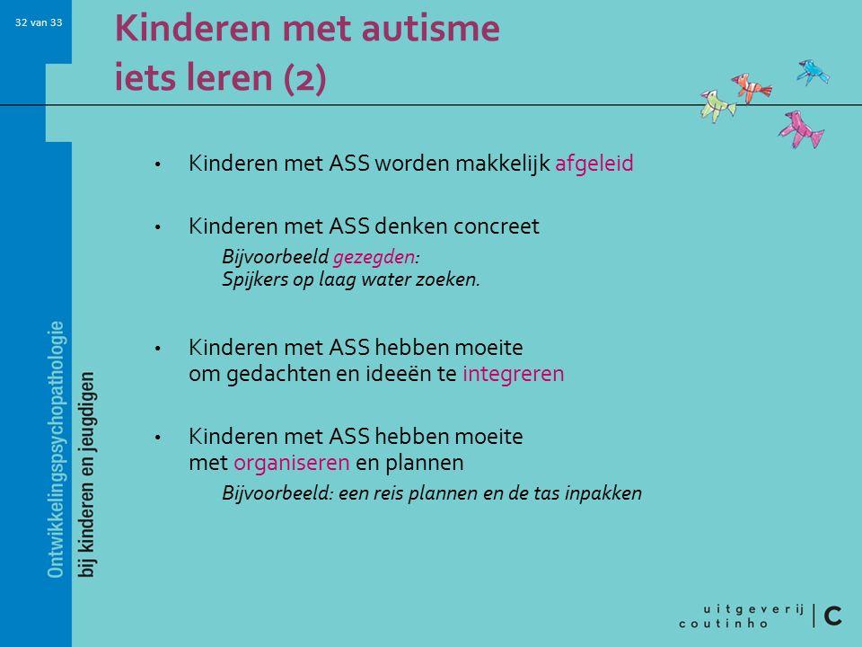 Kinderen met autisme iets leren (2)
