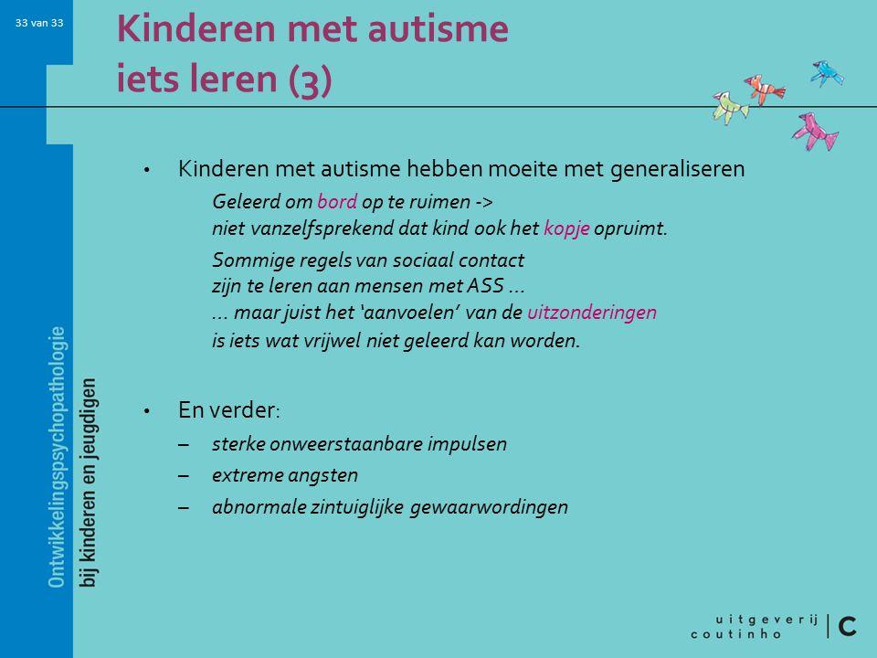 Kinderen met autisme iets leren (3)