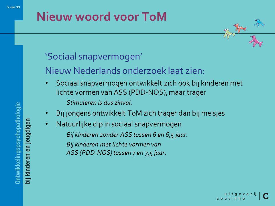 Nieuw woord voor ToM 'Sociaal snapvermogen'
