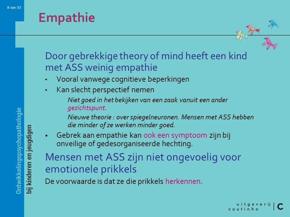 Empathie Mensen met ASS zijn niet ongevoelig voor emotionele prikkels