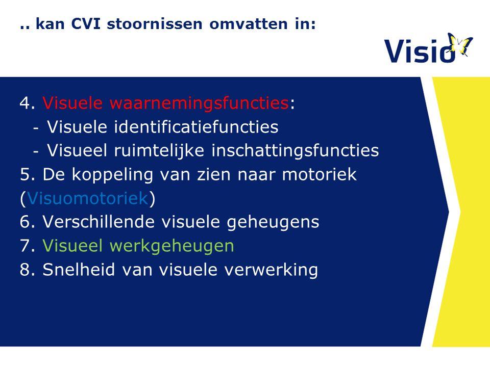 .. kan CVI stoornissen omvatten in: