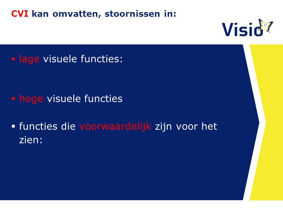 CVI kan omvatten, stoornissen in: